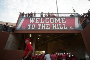 WKU Coach Jeff Brohm and the Hilltoppers opened the 2014 season on Aug. 29.