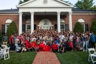 International student picnic at President's Home on Sept. 4.