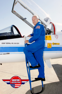 The NASA T-38 Talon flown by Col. Terry Wilcutt is scheduled to be moved to Aviation Heritage Park on Sept. 21.
