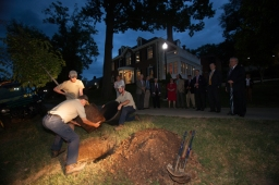 A tree was planted in memory of David Garvin on Oct. 2.
