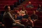 Actor/director Michael Rosenbaum, a 1995 WKU graduate, visited with students on Oct. 7.