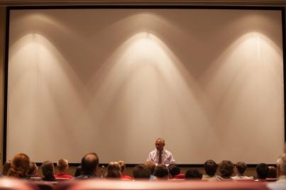 NASA Administrator Charles Bolden spoke Oct. 17 at Mass Media and Technology Hall Auditorium.