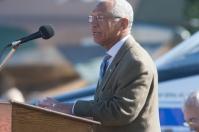 NASA Administrator Charles Bolden spoke at the dedication ceremony at Aviation Heritage Park.