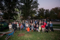 WKU President Gary Ransdell and others who participated in this summer's Toppers at Sea voyage planted an apple tree on Oct. 21.