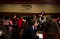 President Gary Ransdell recognized WKU's 2014 national and international champion forensics team on Oct. 23.