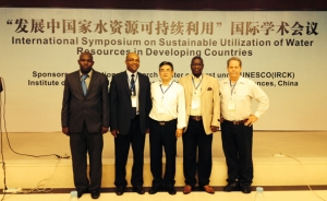WKU's Chris Groves shared a session of presentations with colleagues from South Africa, China and Zimbabwe this week at a U.N. water resources conference in China.