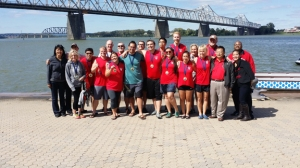 The Confucius Institute Rowing Team at the inaugural Louisville Dragon Boat Festival.