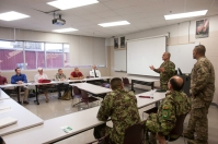 WKU's ROTC program hosted Roshan Safi, Sergeant Major of the Afghan National Army, and Mohammad Ali Hussaini, Command Sergeant Major of Ground Force Command, on Oct. 28.