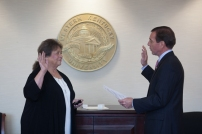 Dr. Barbara Burch was sworn in as faculty regent by WKU Board of Regents Chair J. David Porter on Oct. 31