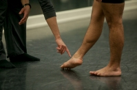Guest artist Victor Alexander worked with WKU dance students on Oct. 31 as part of his visit to campus.