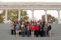 Alumni of WKU's Potter College of Arts & Letters who work at WKU got together for a group photo on Nov. 12.