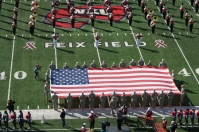The U.S. flag was unfurled before the National Anthem on Nov. 15.