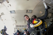 WKU President Gary Ransdell prepared to tandem jump with the Golden Knights on Nov. 15.