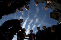 The Army Golden Knights prepared for their jump at WKU on Nov. 15.