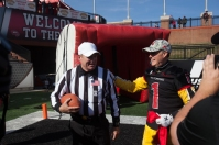 WKU President Gary Ransdell delivered the game ball before the WKU vs. Army game on Nov. 15.