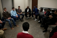 As part of the Cultural Enhancement Series, members of the Northern Kentucky Brotherhood conducted a masterclass for the WKU RedShirts on Nov. 18.