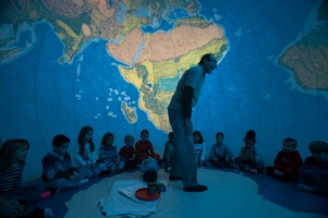 The GeoSphere was featured as part of International Education Week activities.