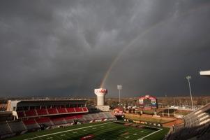 Rainbow over campus on Nov. 24.