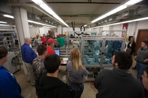 Glasgow High School students visited WKU's Department of Architectural and Manufacturing Sciences on Dec. 5.