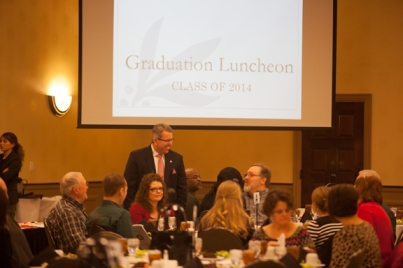 Honors College graduation luncheon on Dec. 12.