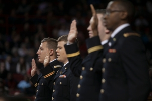 WKU Army ROTC cadets were commissioned during Commencement ceremonies on Dec. 13.