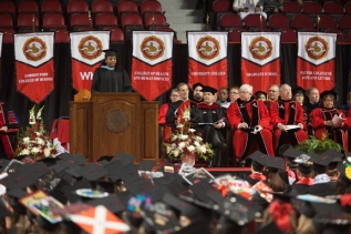 WKU's 176th Commencement was the first for WKU Registrar Tiffany Robinson.