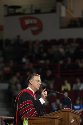 WKU President Gary Ransdell addressed the Class of 2014 at Commencement ceremonies on Dec. 13.