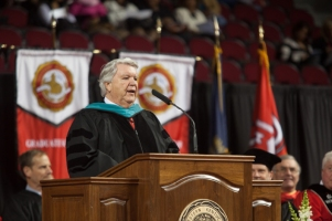 Donald Dizney received an honorary doctorate on Dec. 13.