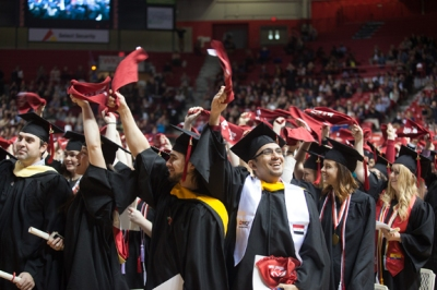 WKU's 177th Commencement will be held May 15-16 at Diddle Arena. The graduate ceremony will begin at 5 p.m. May 15 with three undergraduate ceremonies at 9:30 a.m., 2 p.m. and 6 p.m. May 16.