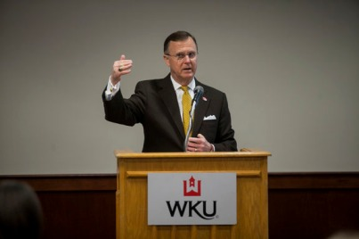 WKU President Gary Ransdell delivered remarks at the Student Success Summit on Jan. 20.