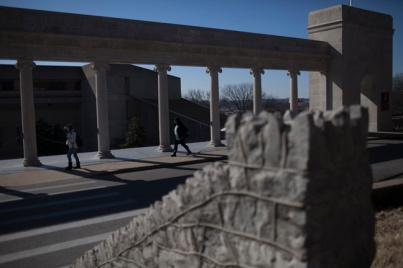 Stone work around the WKU campus.