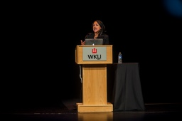 Melissa Harris-Perry presented a lecture Feb. 5 at Van Meter Hall.