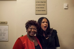 Dr. Saundra Ardrey and Melissa Harris-Perry.