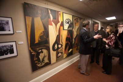 "The opening reception for ""Art in Motion/Guayasamín's Ecuador Unframed"" was held Feb. 9 at the Kentucky Museum."