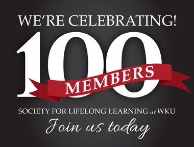 The Society for Lifelong Learning has enrolled its first 100 members and has started its first semester of courses.
