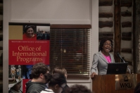 """Gelien Matthews presented """"Black Abolitionists of the Caribbean"""" on March 18."""