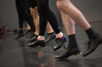 Karen Callaway Williams conducted a tap dance class on March 26.