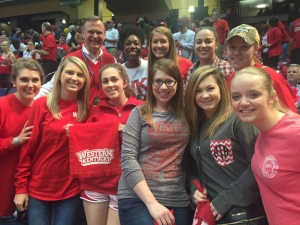 During their trip to Alabama, the WKU students cheered on the Hilltoppers in the Conference USA tournament and visited with President Gary Ransdell.