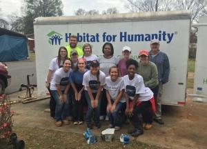 Eight WKU students spent their 2015 Spring Break volunteering with Habitat for Humanity in Tuscaloosa, Alabama.