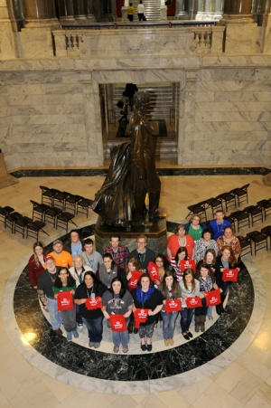WKU Glasgow students and faculty visited the State Capitol during a Spring Break Study Away course. (Photo by LRC Public Information.)