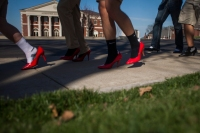 Walk a Mile in Her Shoes was the final event of Sexual Assault Awareness Month on March 31.