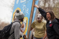 Students in Alpha Delta Pi participated in the Pie a Pi event on April 6 at Centennial Mall to raise funds for the Ronald McDonald House.