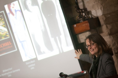 Dr. April Eisman, Associate Professor of Visual Art and Culture at Iowa State University, presented the annual Paul G. and Ernestine G. Hatcher Lecture on April 14.