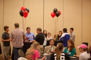 The Biology Department hosted a graduation reception on April 16.