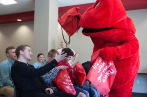 South Warren High School students who are participating in a new Dual Credit course offered through the School of Professional Studies visited the WKU campus on April 23.
