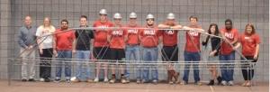 WKU's 2015 steel bridge team (from left): Dr. Shane Palmquist (faculty advisor), Lindsey Gadberry Phelps, Khaled Alammar, C. Jeremiah Short, Raymond Van Zee, Kyle Parks, Justin Hopkins, Ben Mullins, Blake Adams, Dalton Hankins, Allyson Alvey, Ashane Netthisinghe and Sarah Hay.