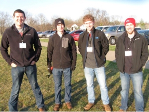 WKU surveying team members (from left) Dylan Givens, Ethan Smith, Logan Howe and Collin Ray.