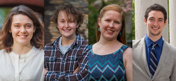 Four students at WKU have been recognized by the U.S. State Department's Critical Language Scholarship Program. From left: Mackenzie Donoghue, Alex Hezik and Kelly Tursic received scholarships; Jody Dahmer was named an alternate.