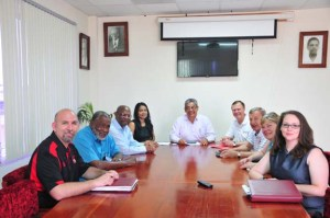 The WKU group conducted meetings in Belize on April 27 and 28.