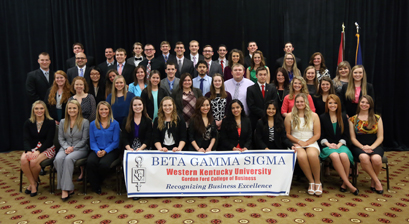 The WKU chapter of the Beta Gamma Sigma International Honor Society in business inducted 56 students, faculty and business professionals during its annual ceremony on April 15